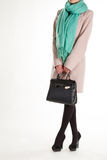 Sciarpa nera del turchese e della borsa Fotografie Stock Libere da Diritti