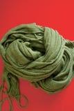 Sciarpa verde Fotografia Stock