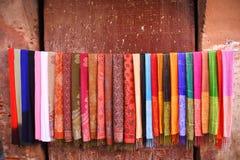 Sciarpe colorate Fotografia Stock