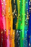 Sciarpe del ballerino di pancia Fotografia Stock