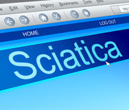 Sciatica concept. Stock Photography