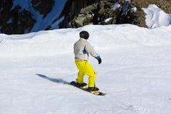 Sciatore alla stazione sciistica Innsbruck - Austria delle montagne Fotografia Stock Libera da Diritti