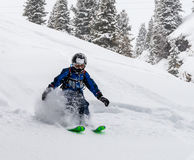 Sciatore alpino del bambino Fotografia Stock Libera da Diritti
