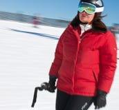 Sciatore in alte montagne - alpine Fotografia Stock Libera da Diritti