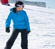 Sciatore in alte montagne - alpine Immagine Stock Libera da Diritti