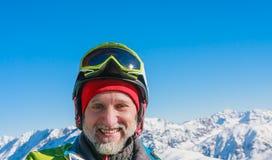 Sciatore del ritratto Fotografia Stock