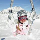 Sciatore della donna Fotografia Stock