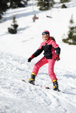 Sciatore della ragazza Immagini Stock Libere da Diritti