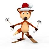Sciatore delle volpi rosse. Immagini Stock Libere da Diritti