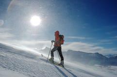 Sciatore di Backcountry fotografie stock libere da diritti