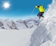 Sciatore di salto al salto Fotografia Stock