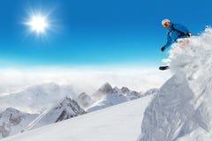 Sciatore di salto al salto Immagini Stock Libere da Diritti