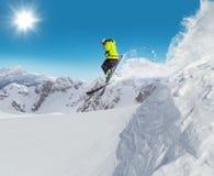 Sciatore di salto al salto Fotografie Stock