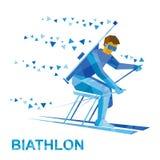Sciatore disabile di biathlon con un fucile Immagini Stock