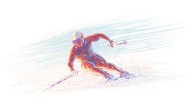 Sciatore/illustrazione olimpic di inverno Vettore ENV 10 Fotografie Stock