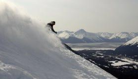Sciatore nell'Alaska Immagini Stock
