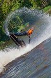 Sciatore nell'azione Fotografie Stock