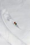 Sciatore in polvere profonda, freeride estremo immagini stock