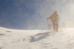 Sciatori di Backcountry Fotografia Stock