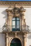 SCICLI SICILIA PALAZZO. Scicli Sicily, Italy - Palazzo Fava. Thanks to its elegant palazzi and churches, and its picturesque shape, it is famously known as the Stock Image
