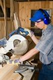scie électrique de charpentier Image stock
