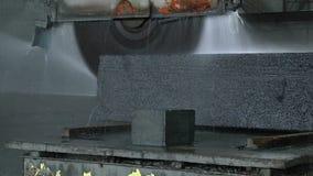 Scie de coupe de pierre de granit clips vidéos