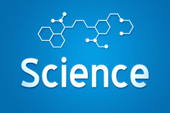 Science. A science sign and text on front view Stock Photo
