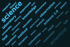 Science 2.0 - background Royalty Free Stock Image