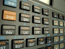 Science. Close-up of the scientific calculator Stock Images