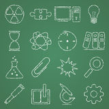Science. Vector illustration of icons on the topic of science Stock Photos