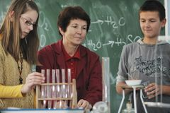 Science And Chemistry Classees At School Stock Photography