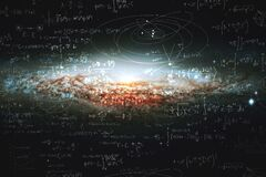 Free Science And Research Of The Universe, Spiral Galaxy And Physical Formulas, Concept Of Knowledge And Education Royalty Free Stock Images - 176355969