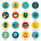 Science areas icons Stock Image