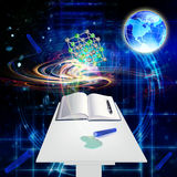 Science background. Scientific chemistry innovative  research Royalty Free Stock Images