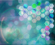 Science background. Abstract background with hexagolal cells Royalty Free Stock Images