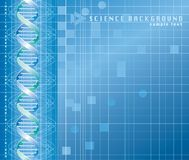 Science background. Vector background with DNA graph vector illustration