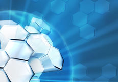 Science Background Blue Royalty Free Stock Photography