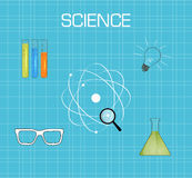 Science background flat Royalty Free Stock Photography
