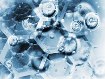Science background illustration, chemical structures Royalty Free Stock Photo