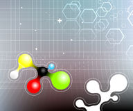 Science background, molecule Royalty Free Stock Photos