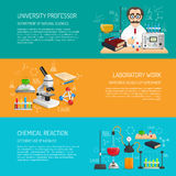 Science Banner Horizontal Stock Image