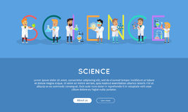Science Banner. Science Alphabet. Royalty Free Stock Photo