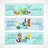 Science Banner Set Stock Image