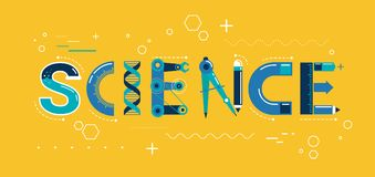 Science banner, typography and background Stock Photography