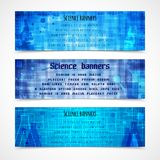 Science banners modern Stock Images