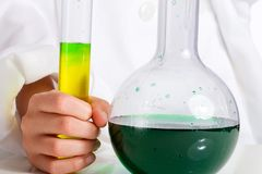 Science beaker Stock Image