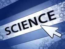 Science blue concept Royalty Free Stock Images