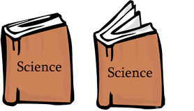 Science books Royalty Free Stock Images