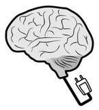 Science brain. Creative design of science brain vector illustration