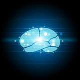 Science brain element background Royalty Free Stock Images